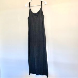Vintage Surfival Long Black Knit Dress Large